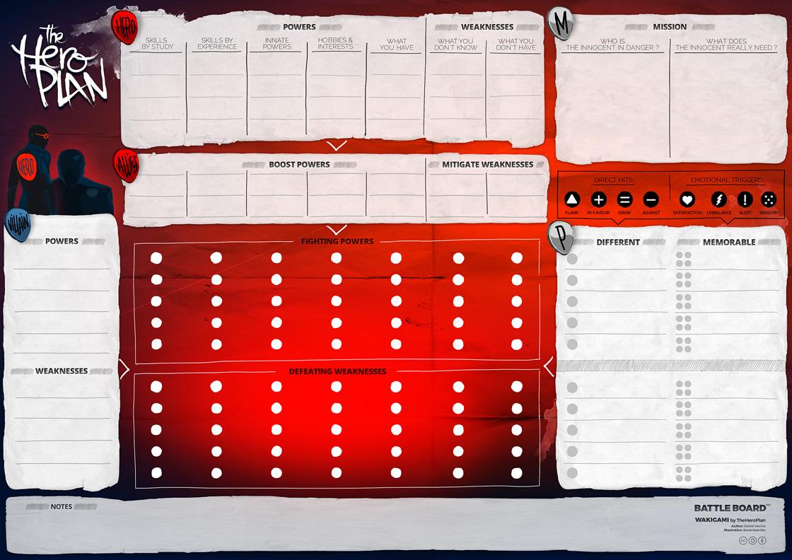 The Hero Plan Battle Board v1.1 eng